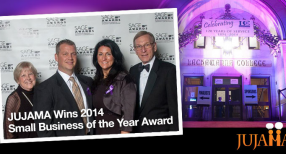 JUJAMA wins 2014 Small Business of the Year